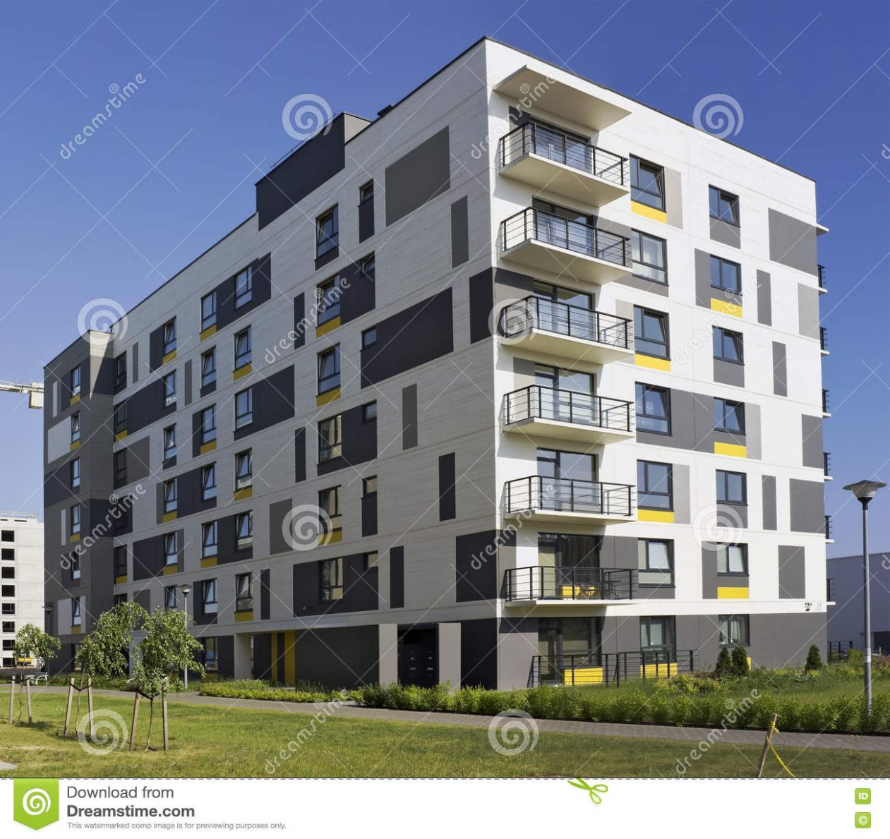 Modern Modular House With Low Cost Small-sized Apartments Stock ...