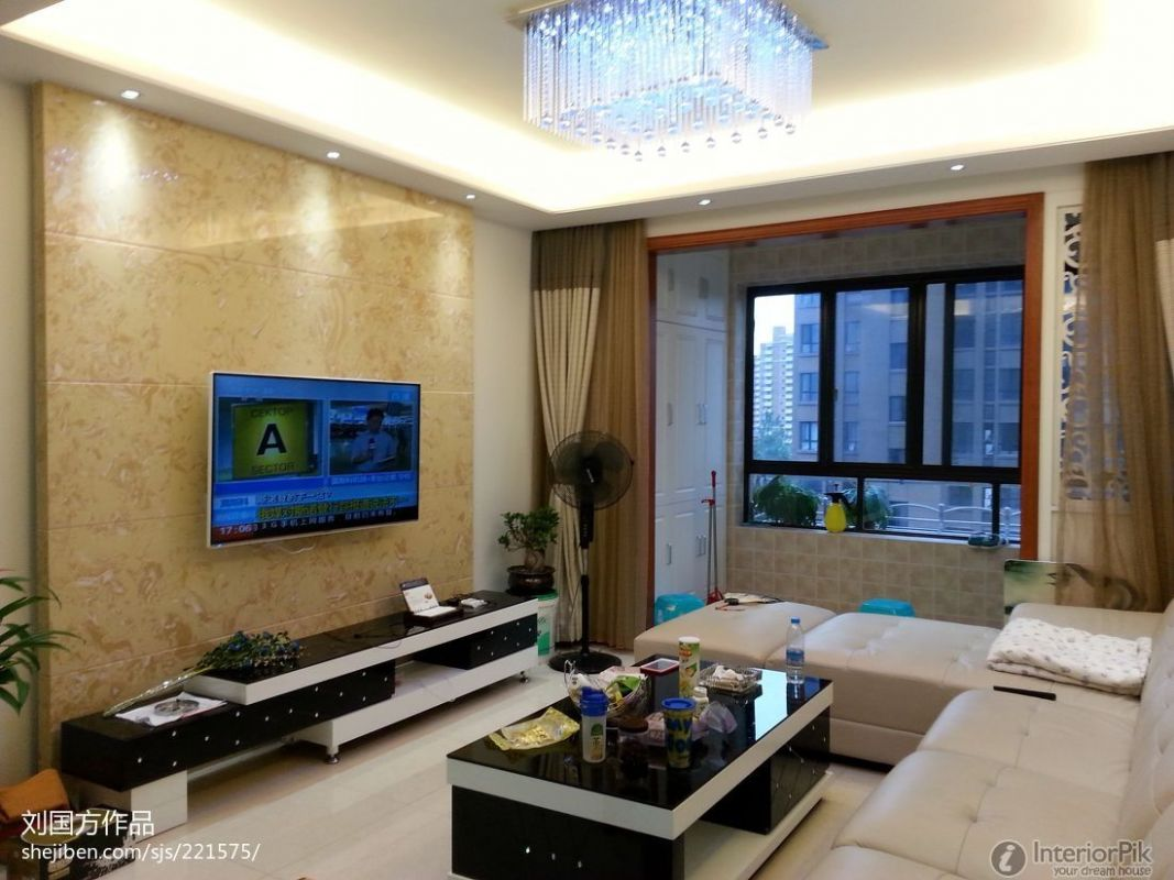 Modern Style Living Room Tv Back | Modern Interior Design Ideas ...