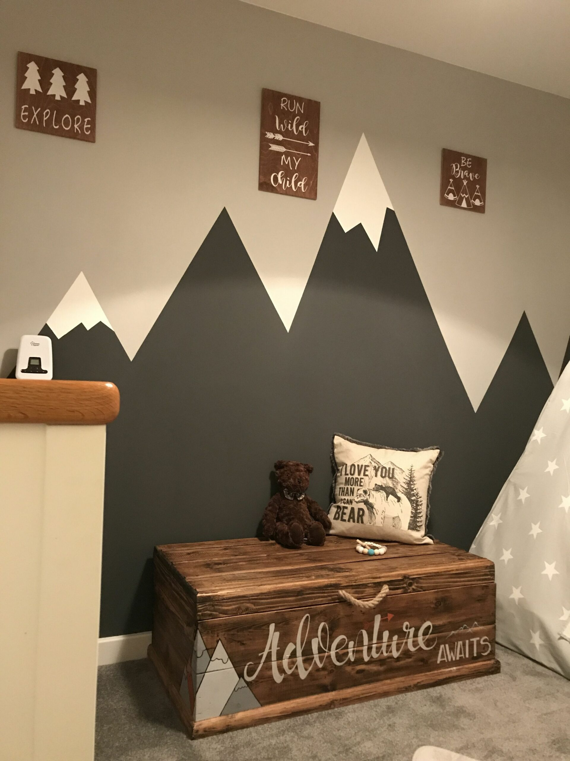 My boys room mountains for my Everest | Boy room, Baby room decor ...