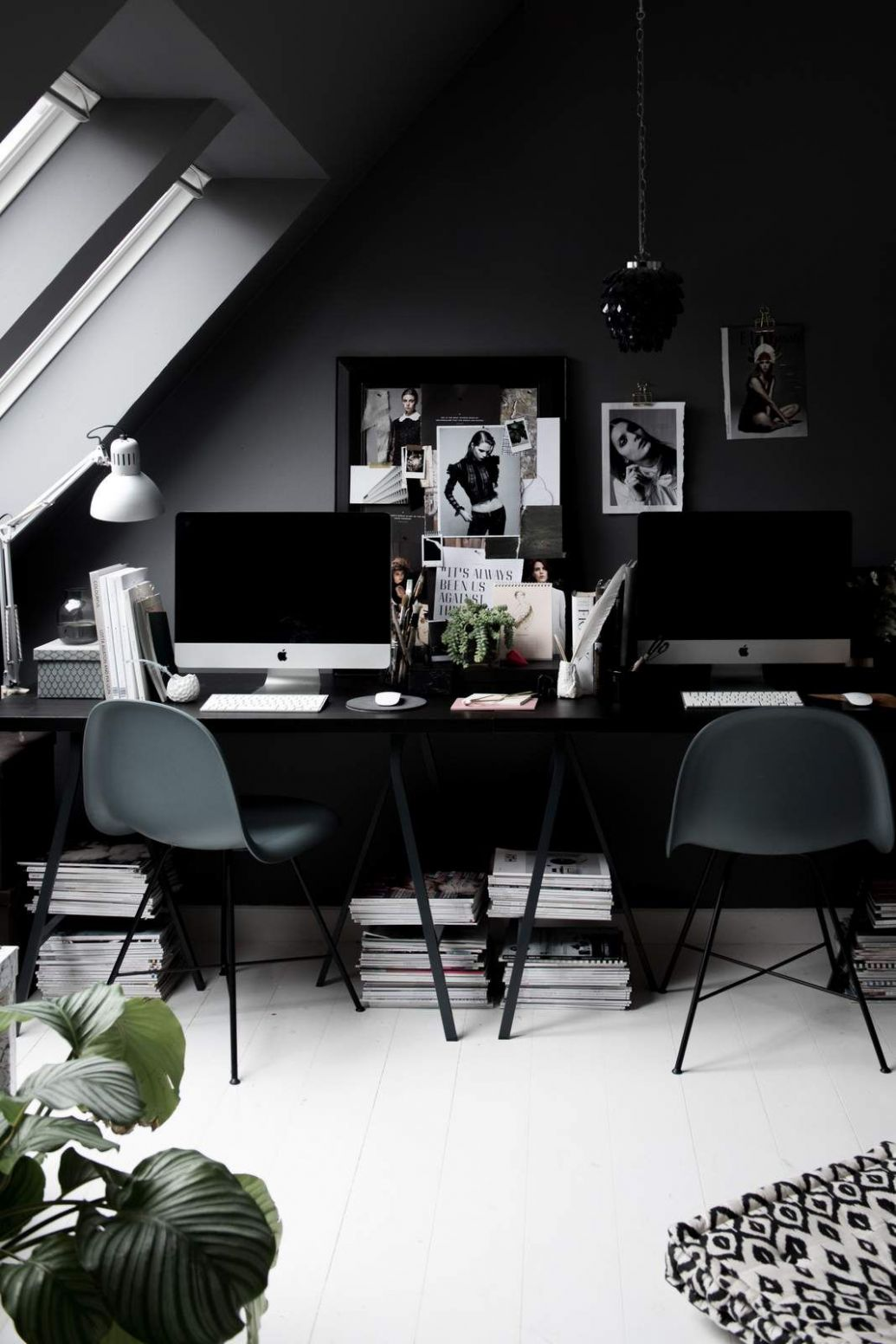 My Dark Grey Home Office in Copenhagen | Gray home offices, Home ..