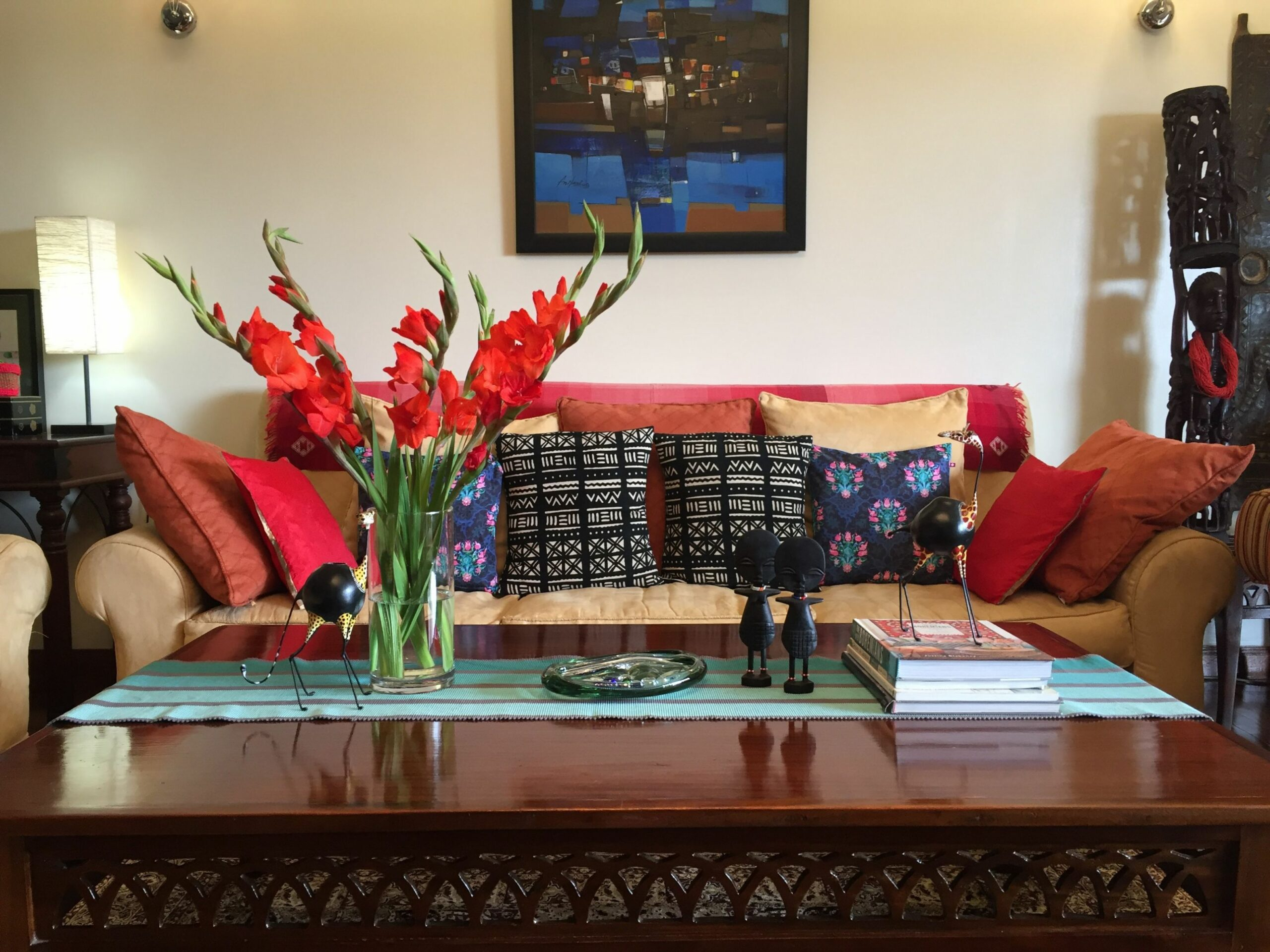 My Indian home in Nairobi, Kenya. Indian and African decor ..