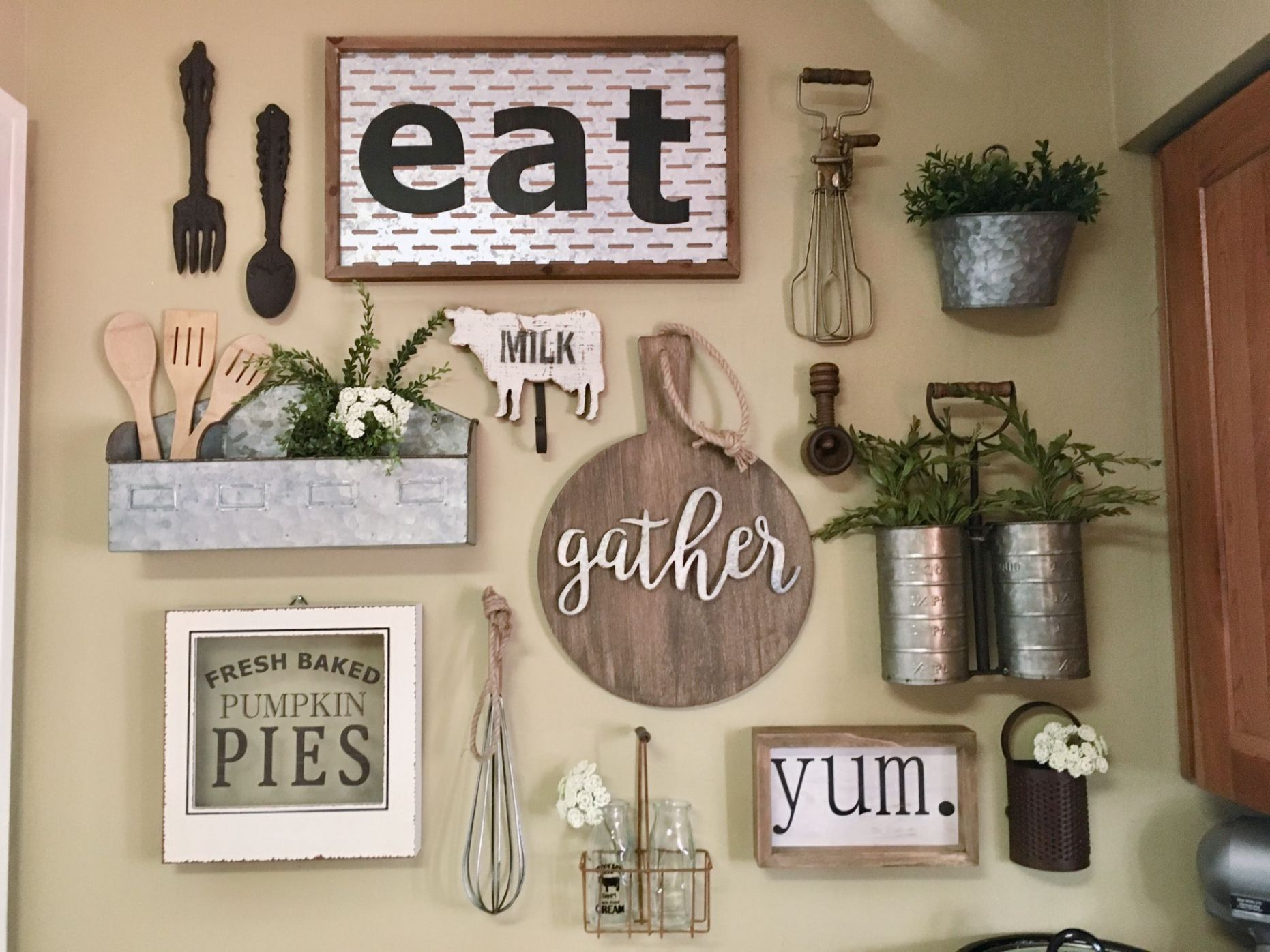 My kitchen gallery wall #KitchenDecor #GalleryWall #Farmhouse ..