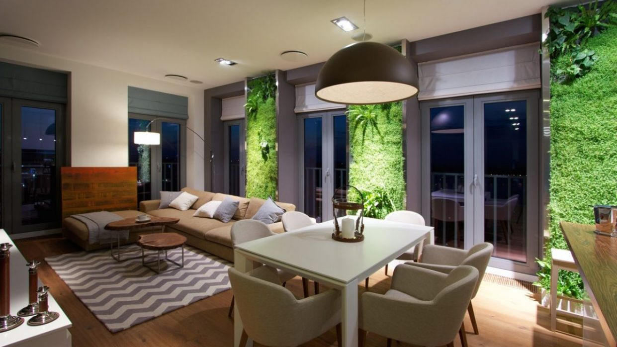 Natural Apartment Interior Design With Beautiful Indoor Gardening ...
