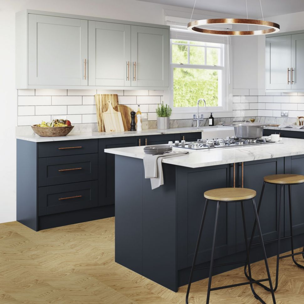 Navy kitchen ideas – Navy blue kitchens that look cool and stylish - kitchen ideas and colours
