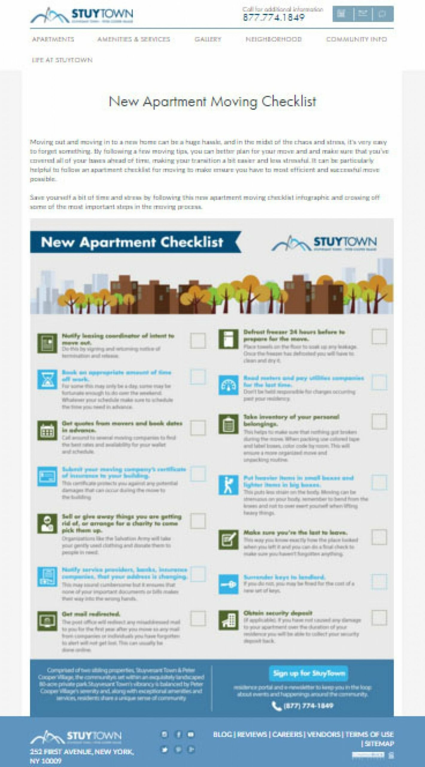 New Apartment Moving Checklist | Visual.ly