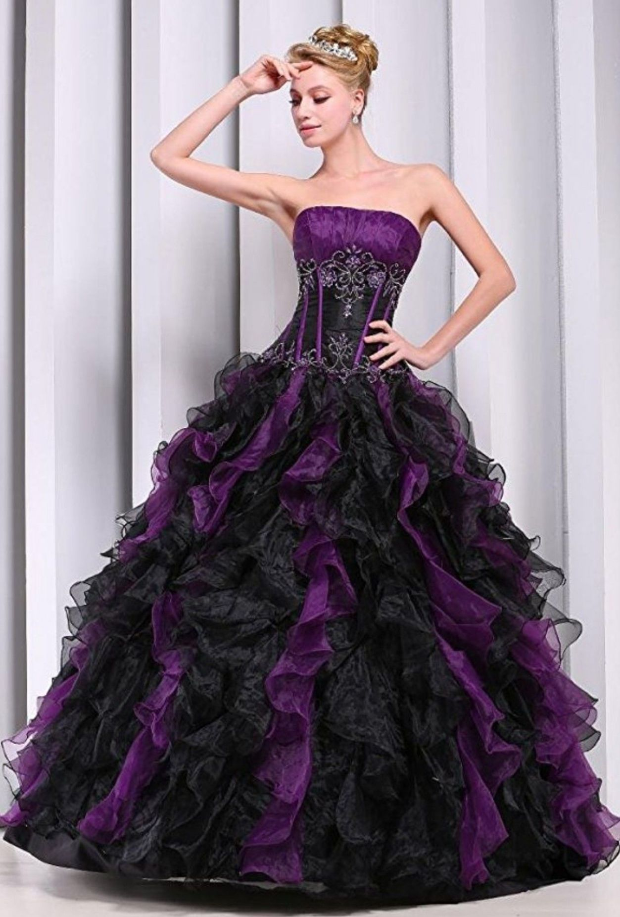 Nightmare before Christmas quince dress (With images)   Halloween ..