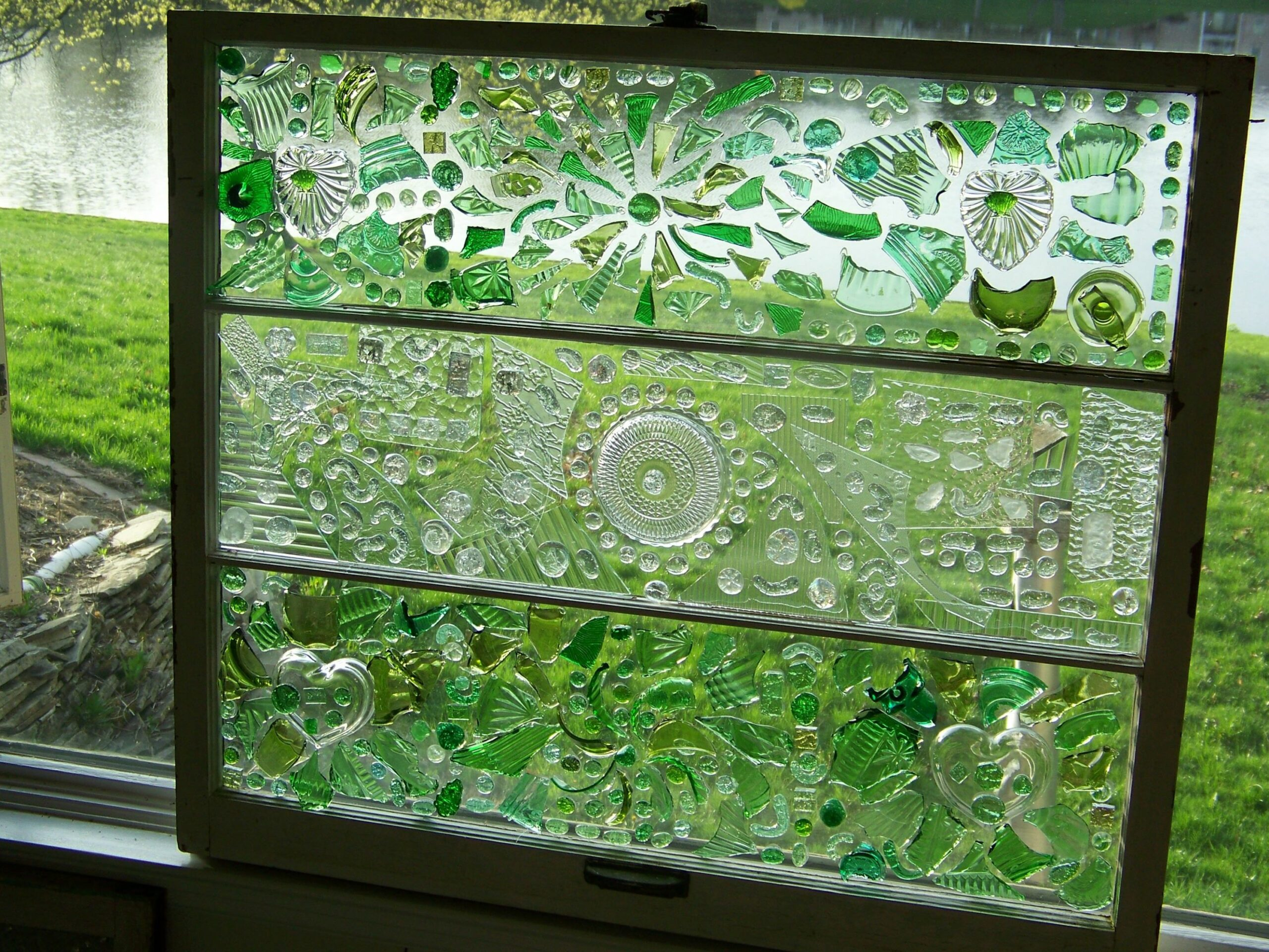 Old Window Glass | Glass window art, Broken glass crafts, Broken ...
