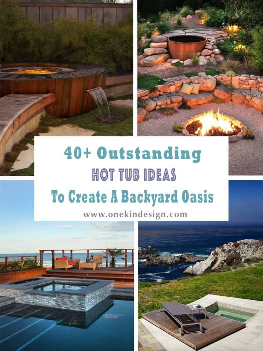 One Kindesign - backyard in ground jacuzzi ideas