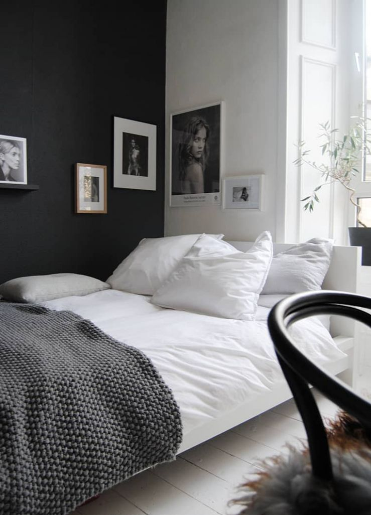 One Kindesign - bedroom ideas black and white