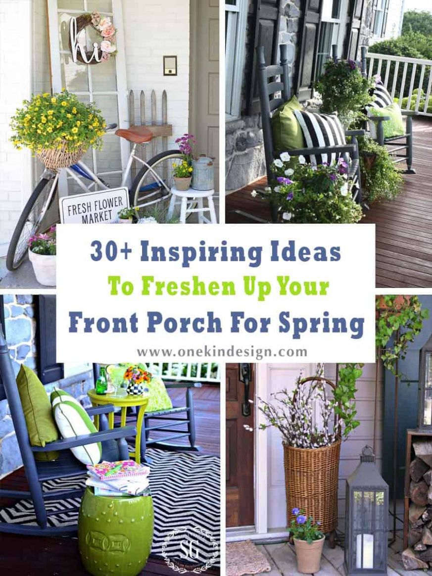 One Kindesign - front porch decor with plants