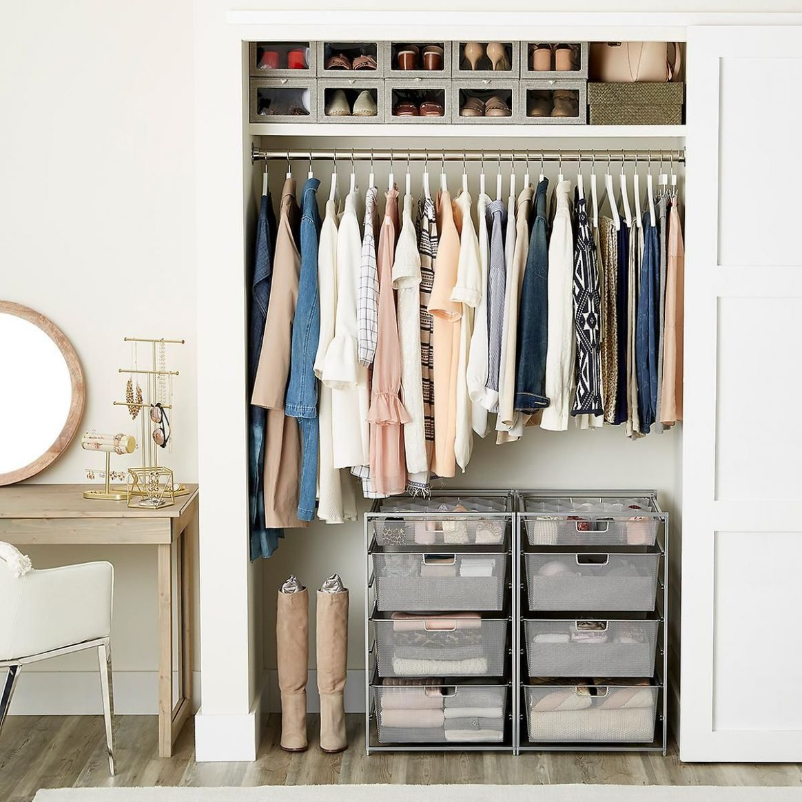 ORGANIZE YOUR CLOSET WITH THE CONTAINER STORE | Closet designs ..