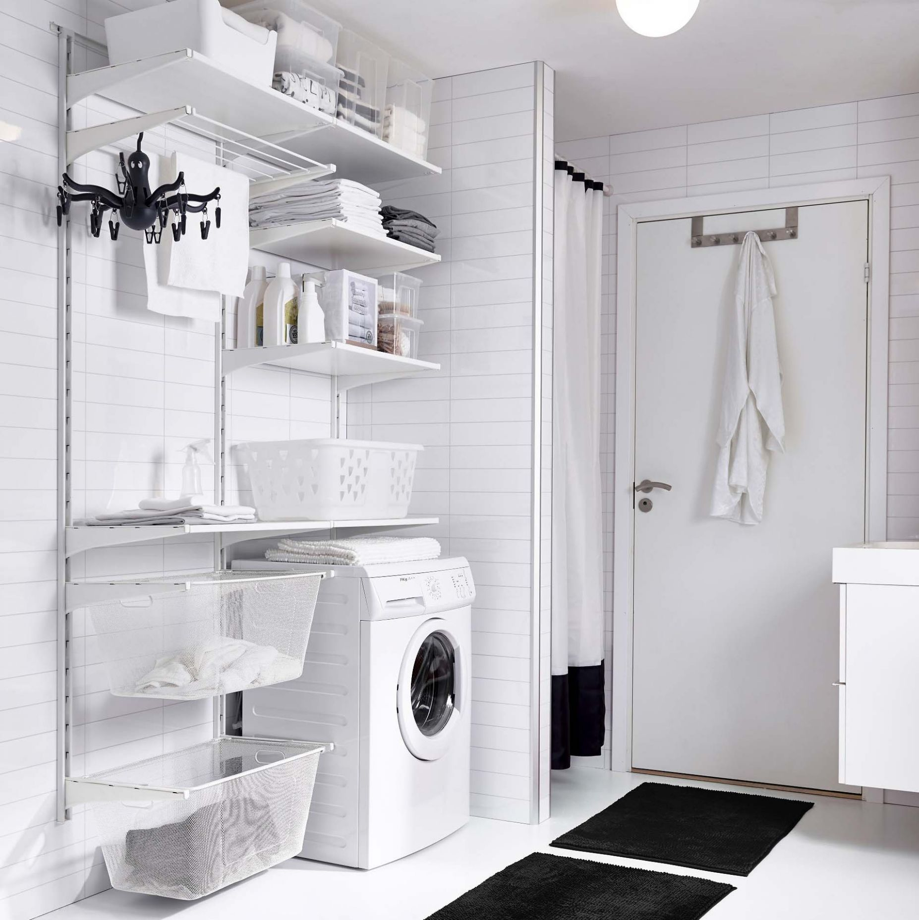 Organized Laundry Room Decor Ideas to Steal from IKEA | Apartment ..