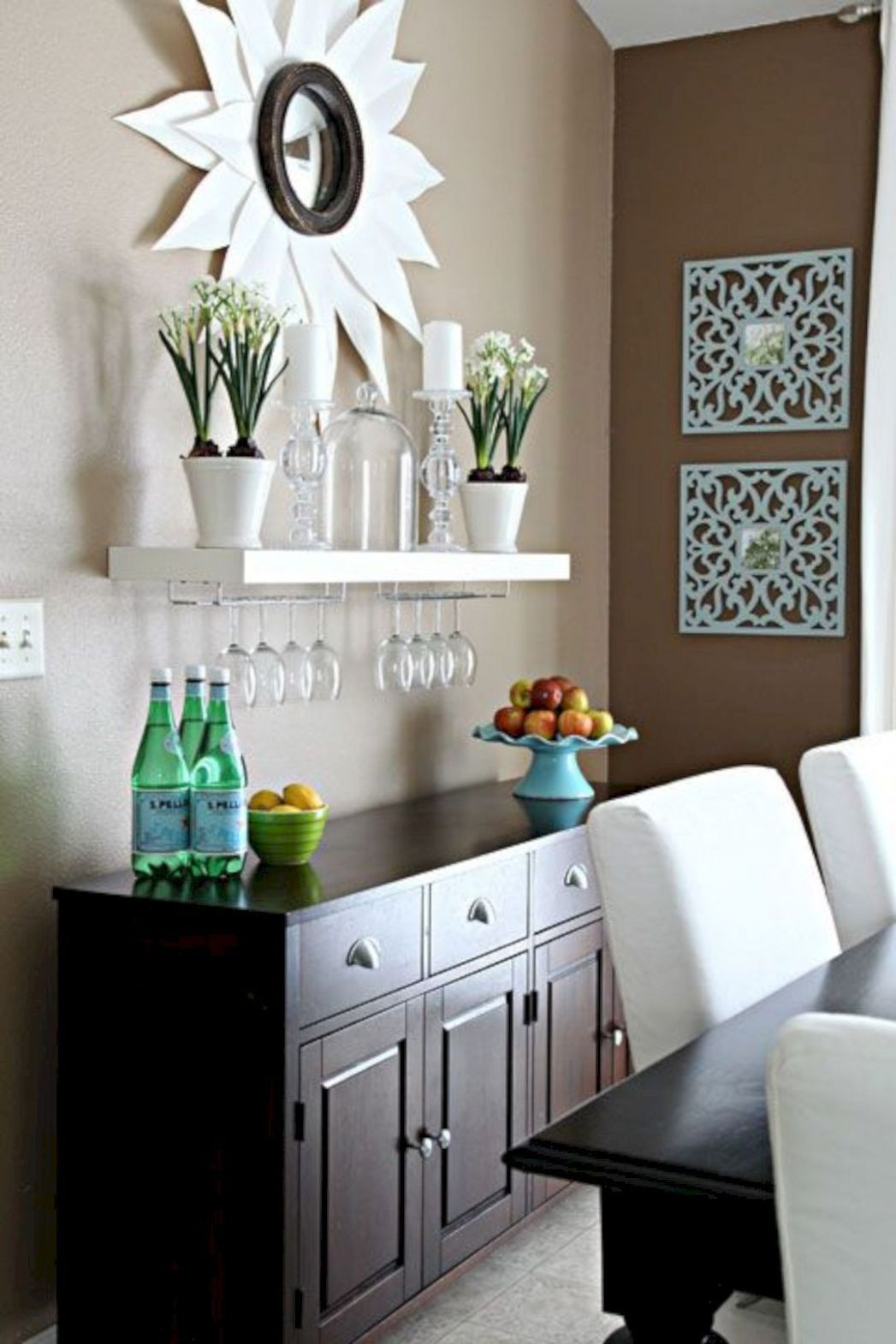 Pin on Gorgeous Interior Ideas - wall decor ideas over buffet