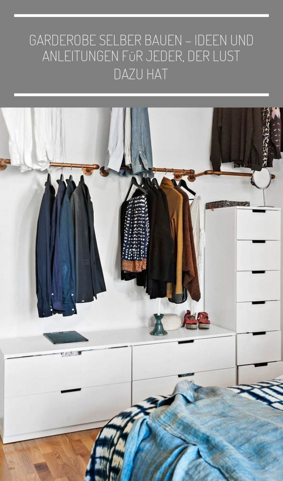 Pin on Neue wohnung - closet ideas to hang clothes