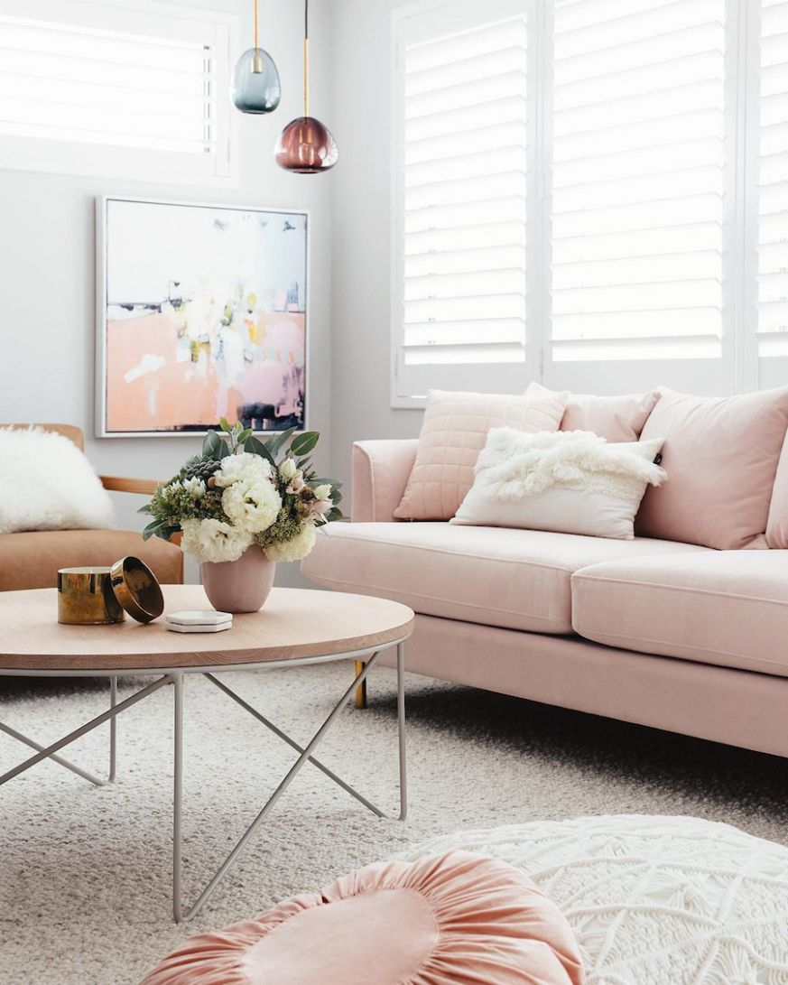 pink sofa Ideas You'll Love! | Curated Interior