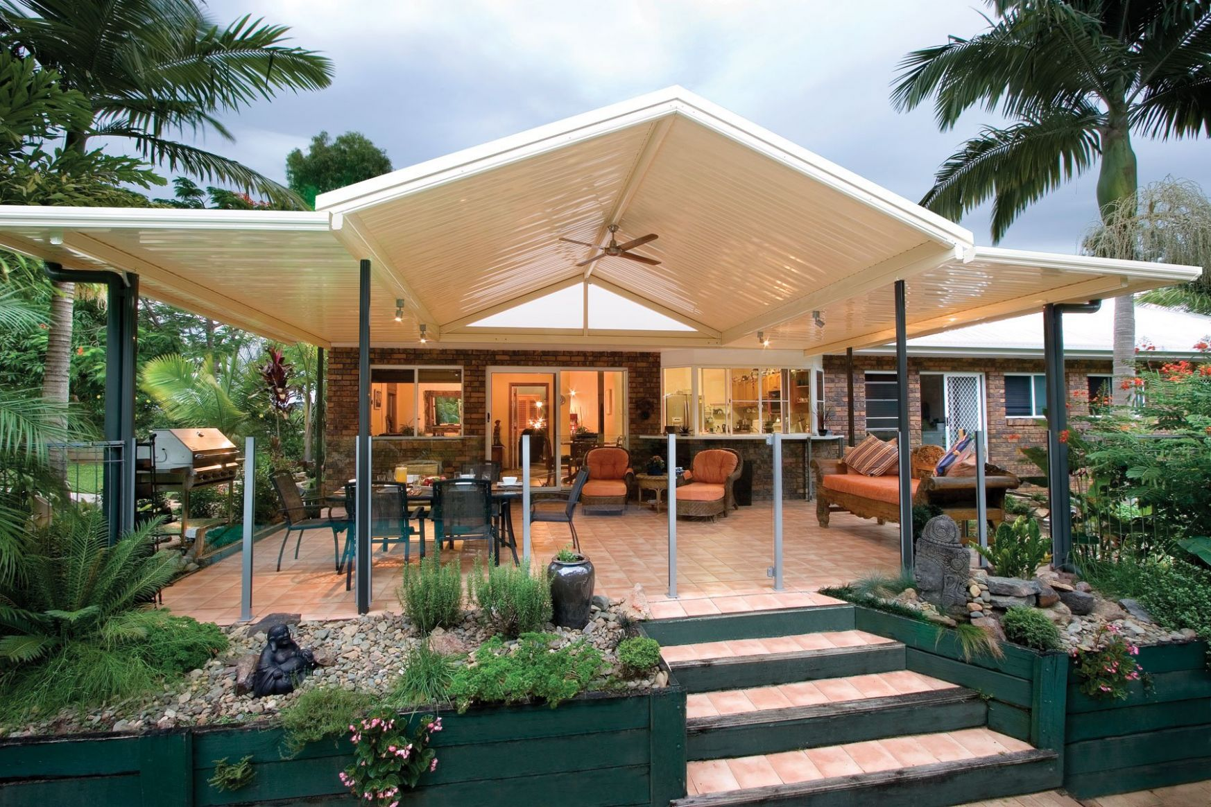 Pitched Covered Extended Patio Outback Patios Verandah Carport ..