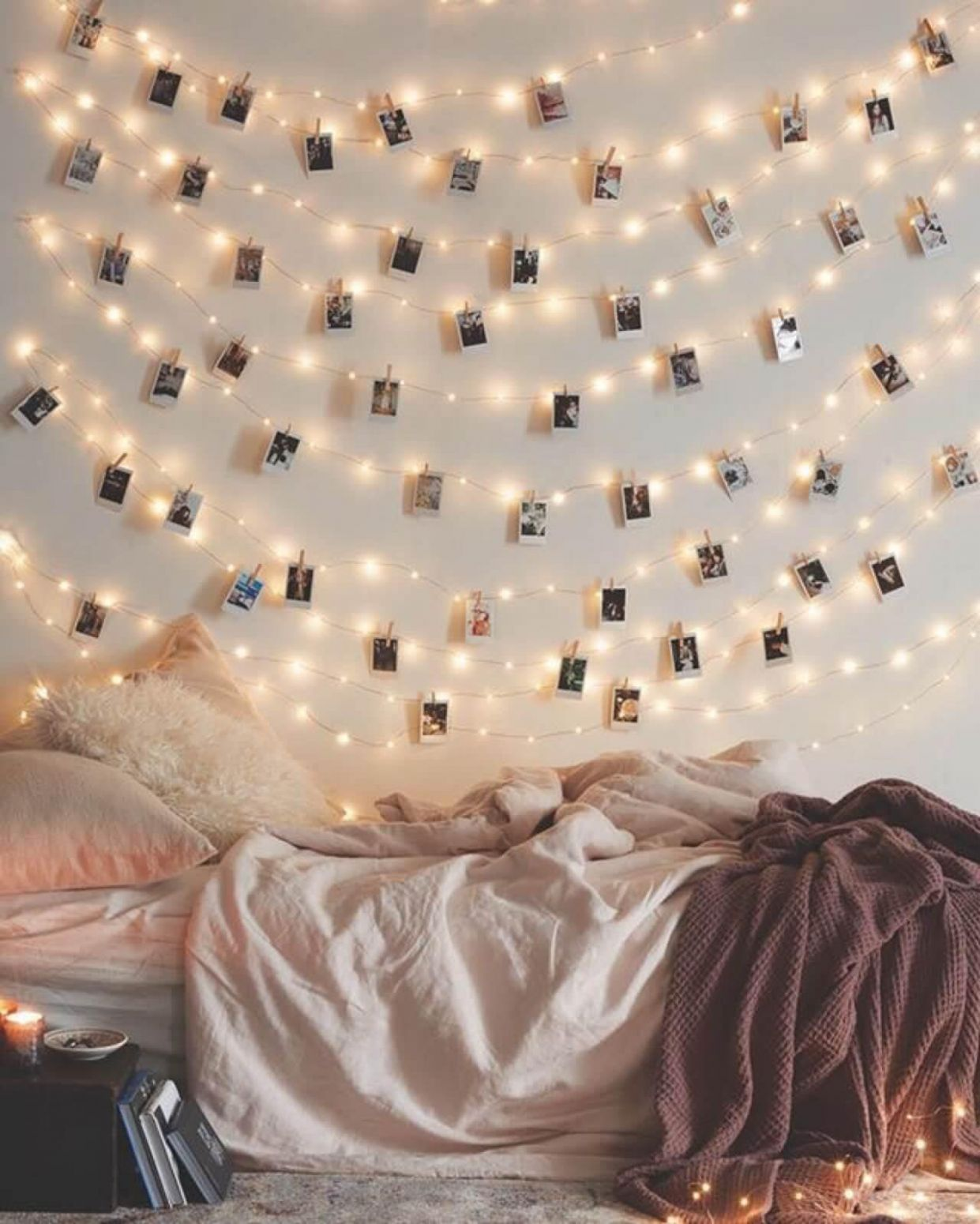 Polaroid-style Instagram Wall Art With Twinkle Lights - Decoration ..