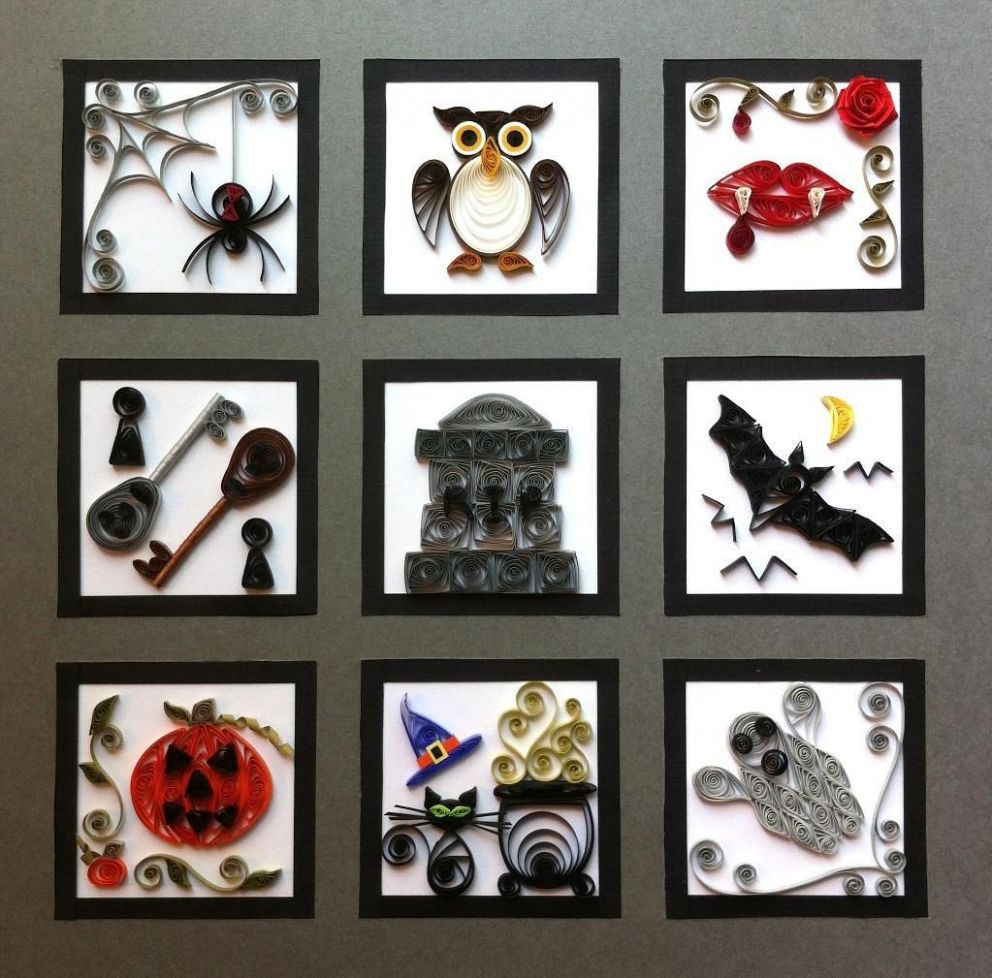 Quilled Halloween Sampler by J.A.Grier - Craftsy | Fall paper ..