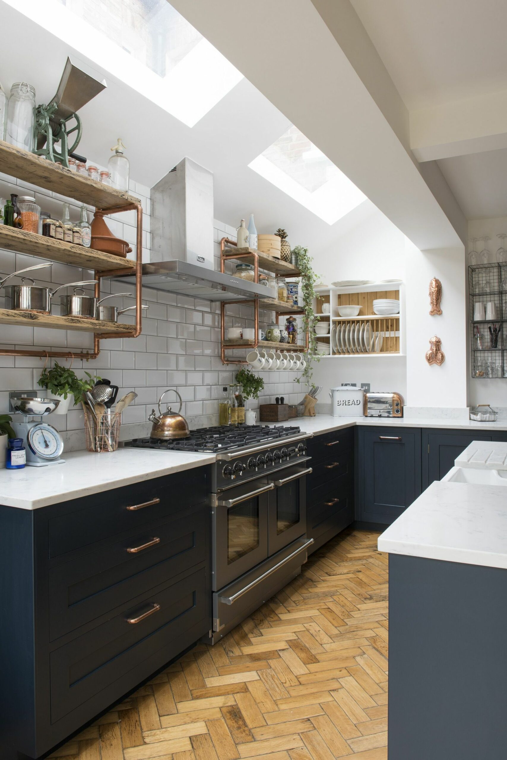 Real home: an open plan kitchen extension with industrial touches ...