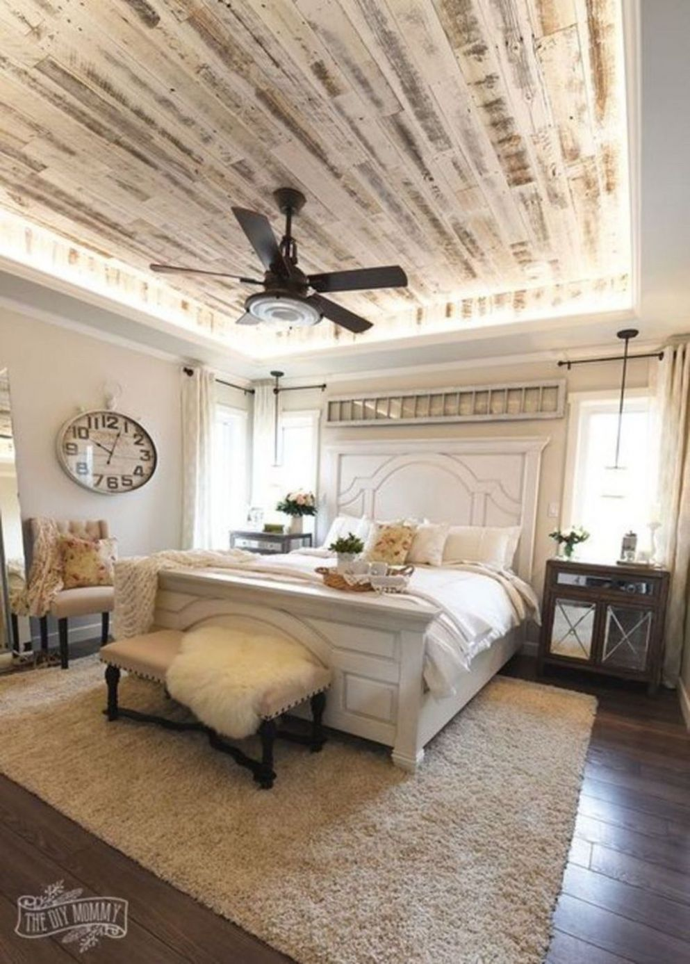 Relaxing Rustic Farmhouse Master Bedroom Ideas 11 | Schlafzimmer ...