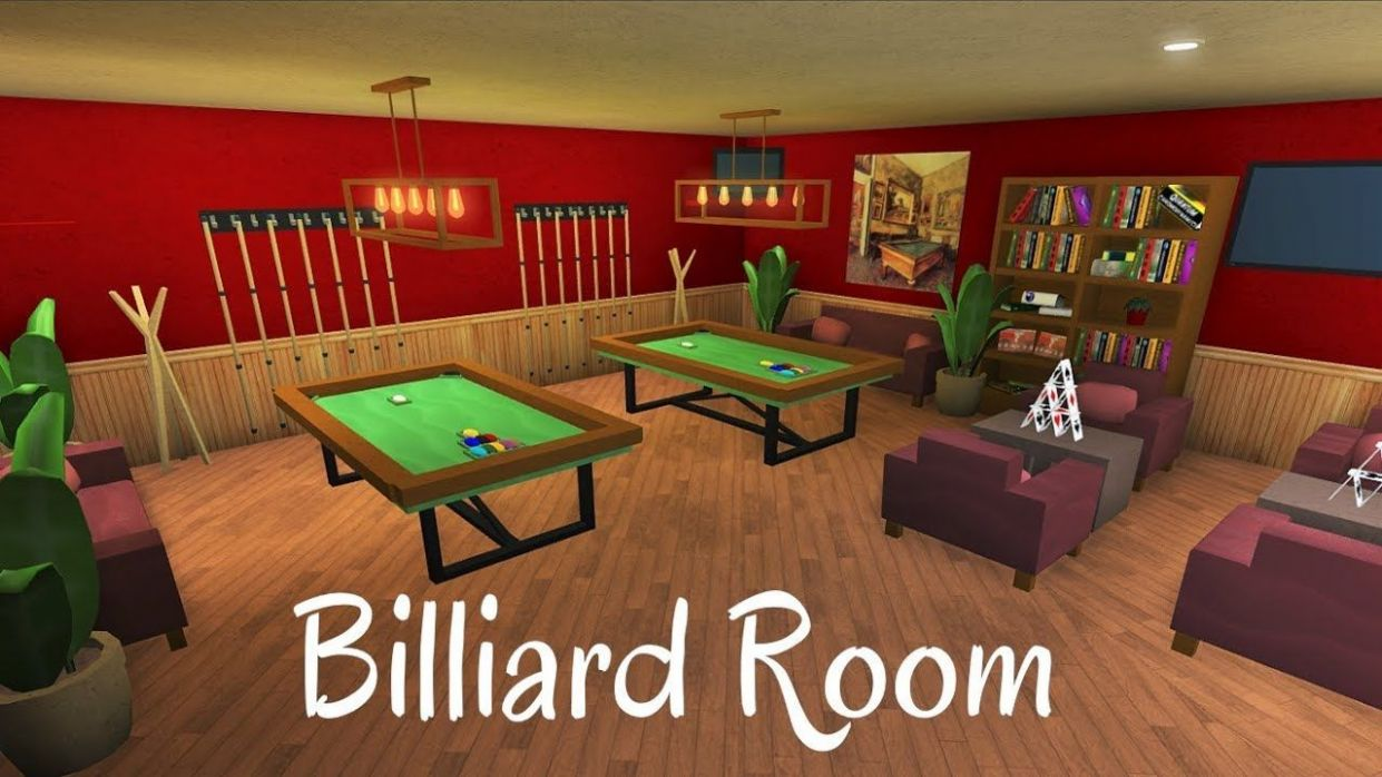 Roblox/BLOXBURG: Billiard Room [SPEED BUILD]. Beautiful Living ..