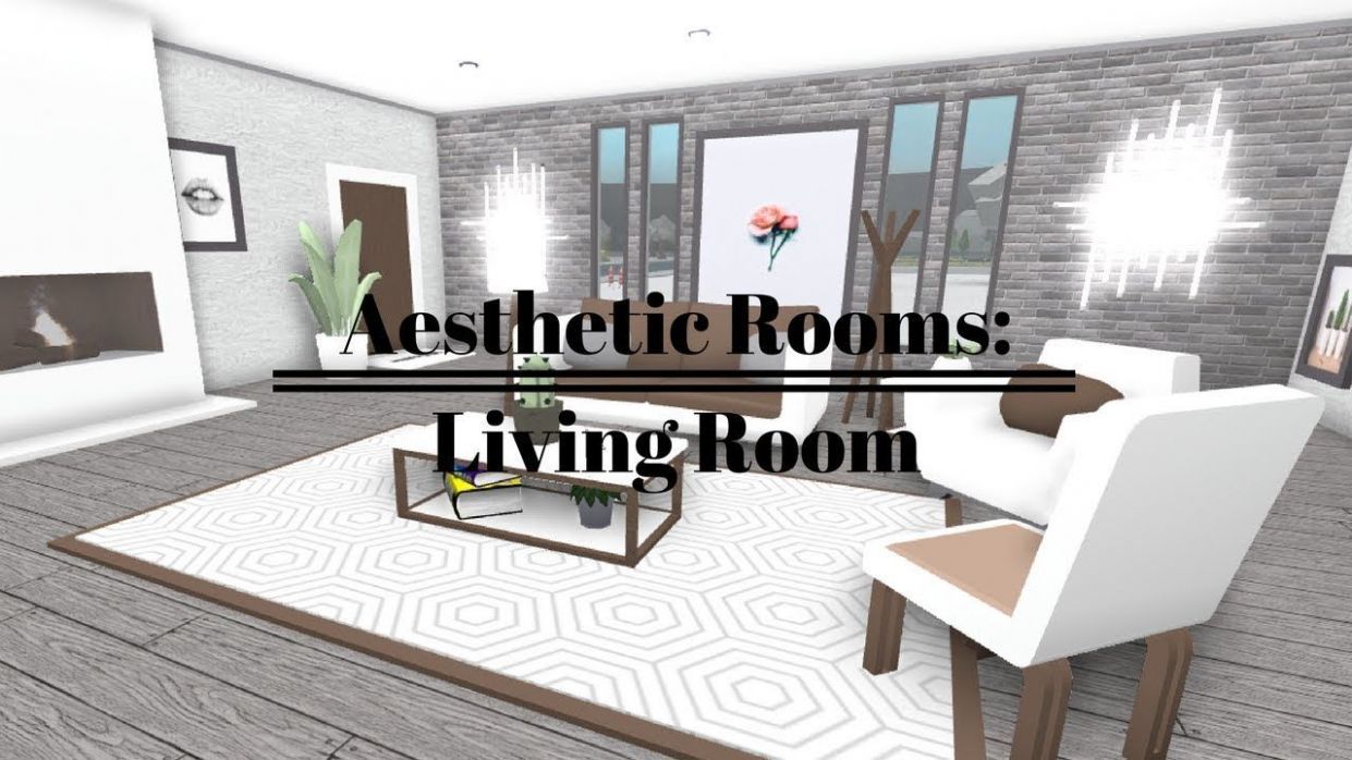 ROBLOX | Welcome To Bloxburg: Aesthetic Rooms - Living Room (With ...