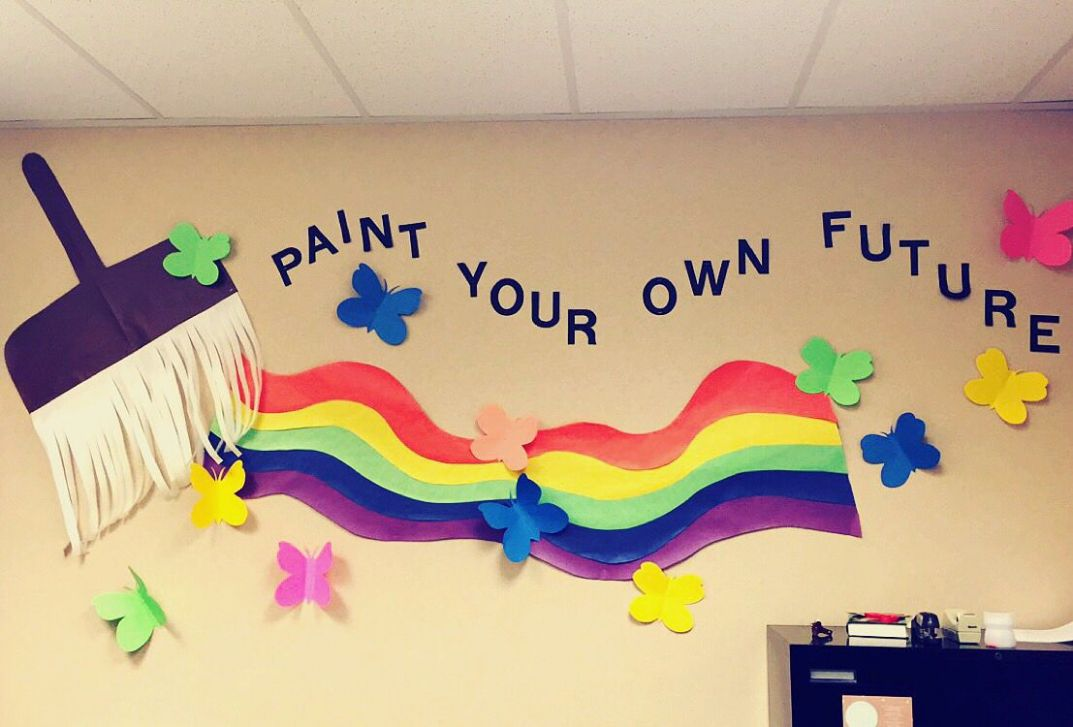 School wall decorations | School wall decoration, School ...