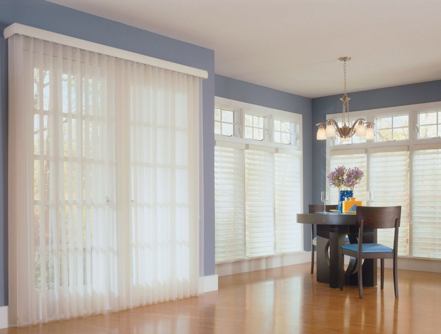 Sheer Vertical Blinds by Comfortex look like drapery but function ..