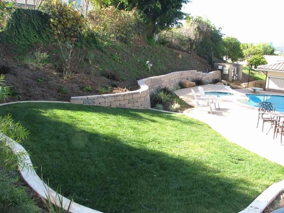 Slope Patio Backyard Ideas Pool With A Sloped Yard Elegant Front ..