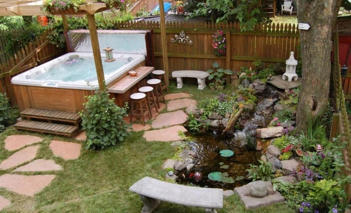 Small Backyard Ideas with Hot Tub 11 - Decor Renewal