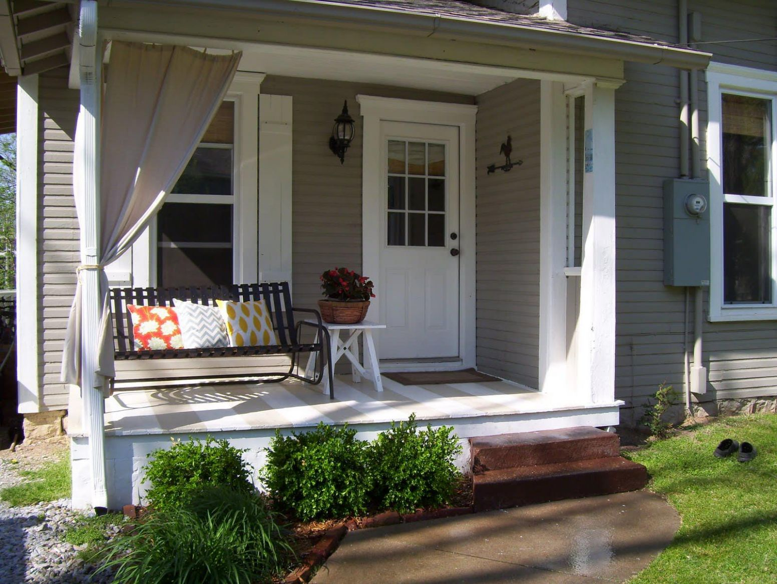 Small Porch Ideas On A Budget Bitdigest Design Creative Back Front ...