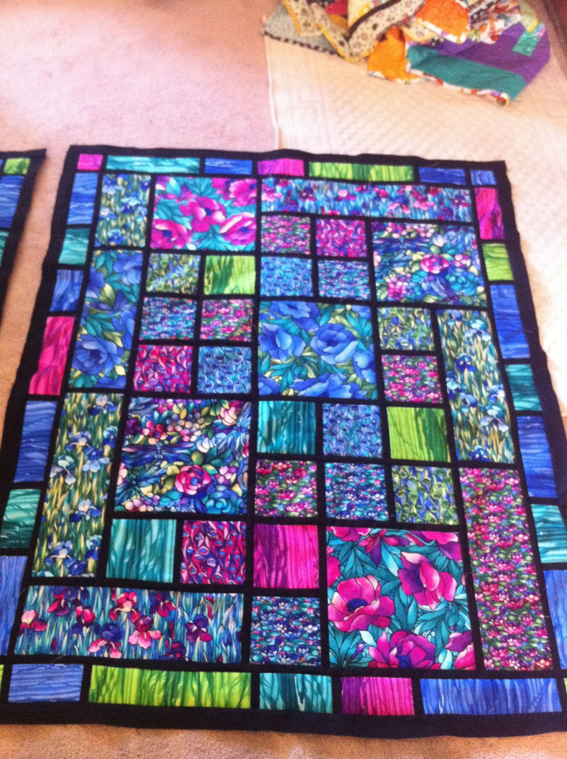 Stained glass window quilt | Quilts, Stained glass quilt, Quilt ..