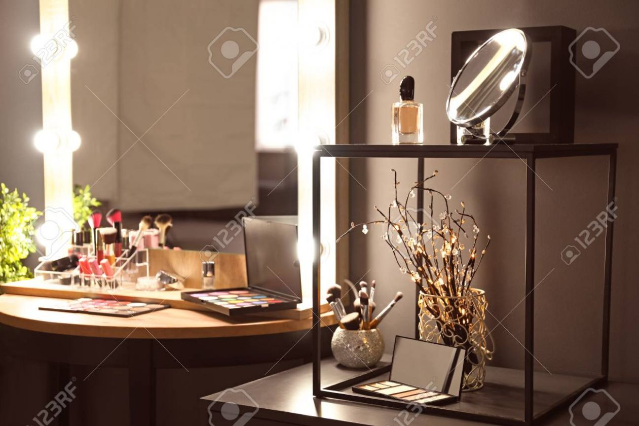 Stock Photo - makeup room mirror