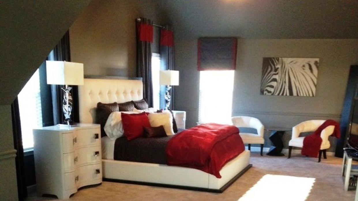 Stunning Red Black White Bedroom Decorating Ideas – House n Decor - bedroom ideas black and white