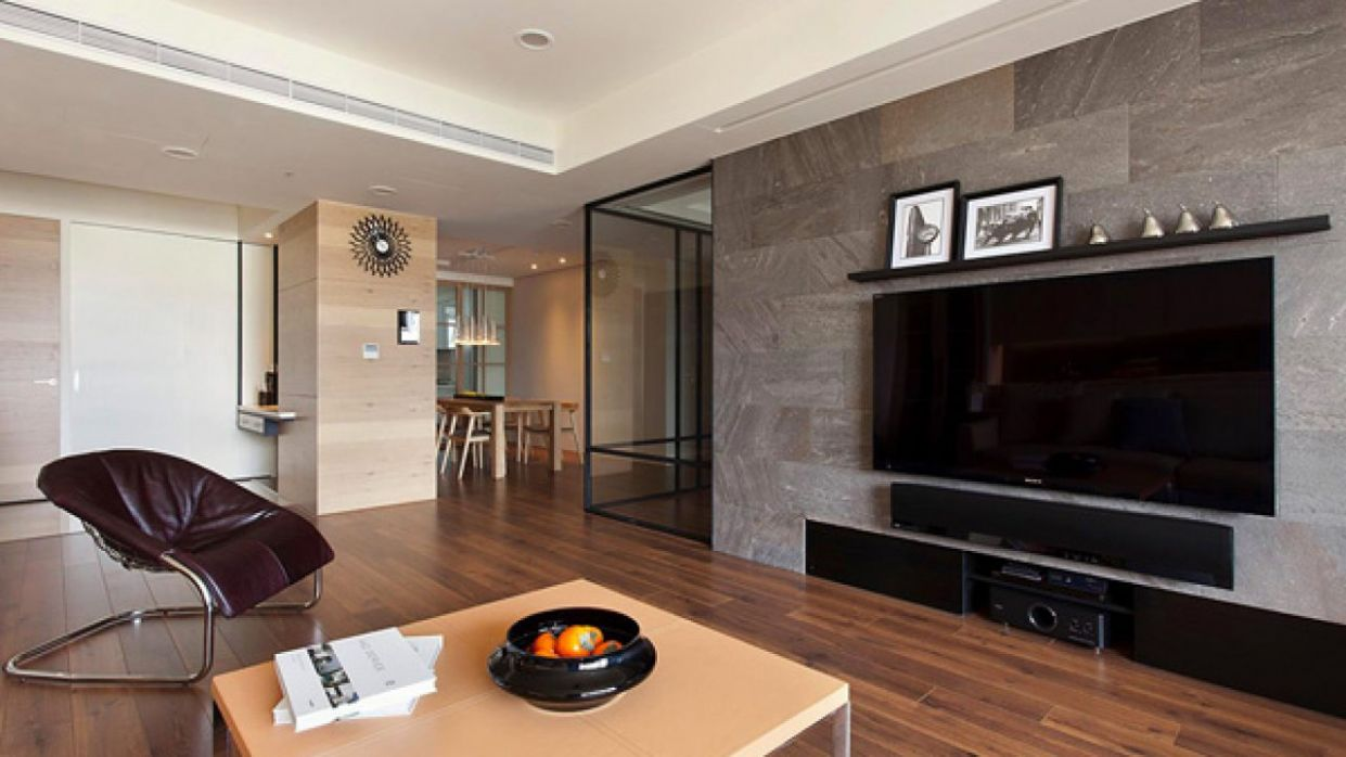 Stylish and Spacious Apartment Integrating a Movable Wall - apartment wall design