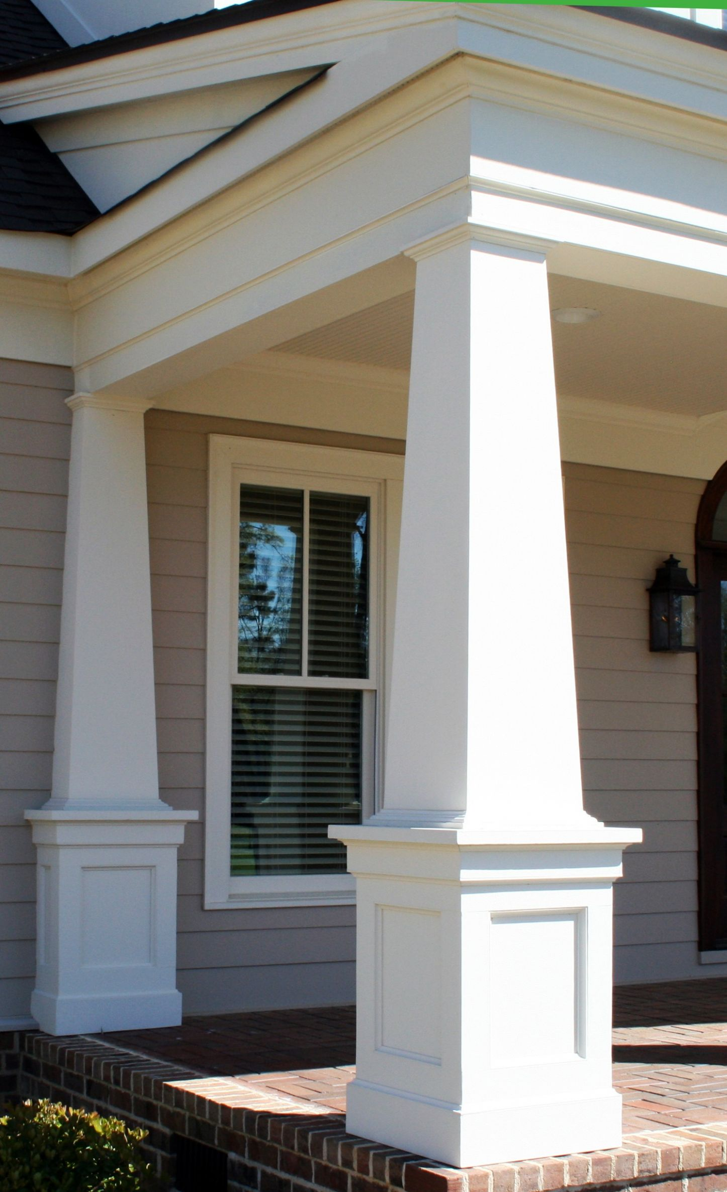 Tapered Front Porch Columns • Porches Ideas - front porch ideas with columns
