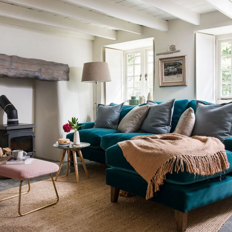 Teal living room ideas - warm up your lounge with this vibrant hue - living room ideas teal