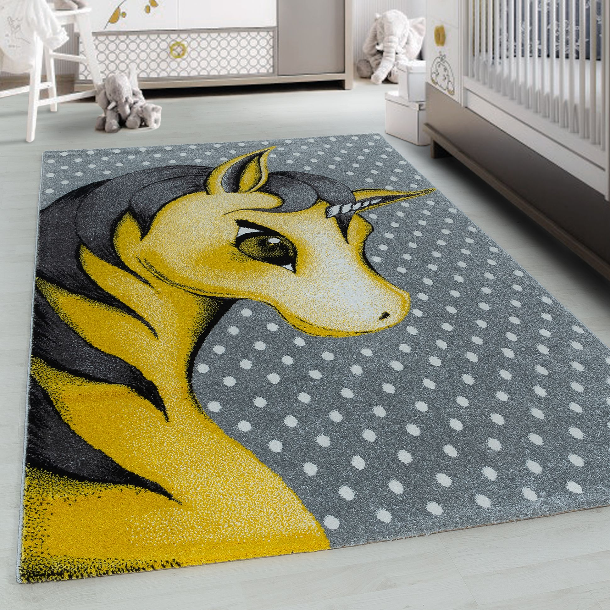 TEPPIUM Kids Play Mat rug Baby Room Unicorn Carpet Yellow carpet | Ceres  Webshop - baby room mat