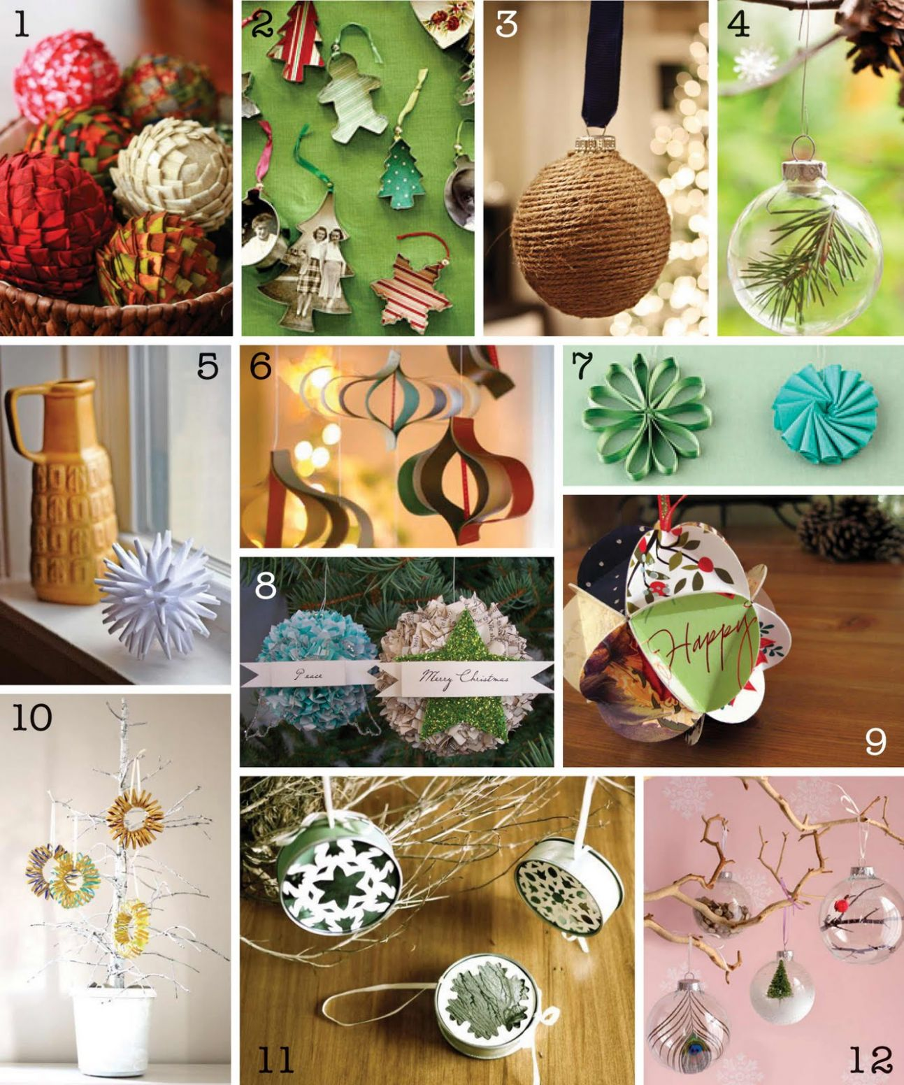 The Creative Place: DIY Christmas Ornament Round-Up - diy home decor ornaments
