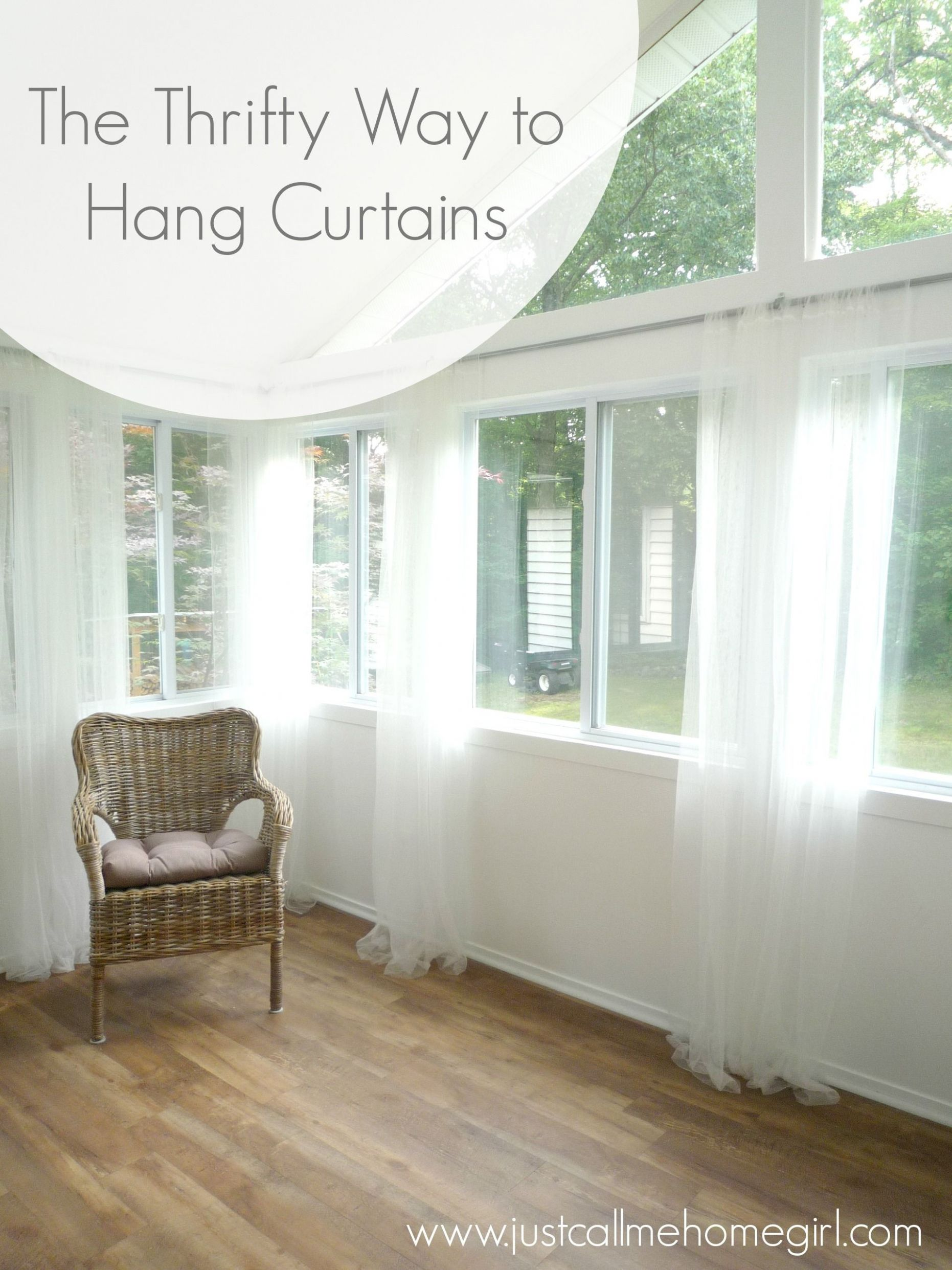 The Thrifty Way to Hang Curtains | Hanging curtains, Sunroom ...