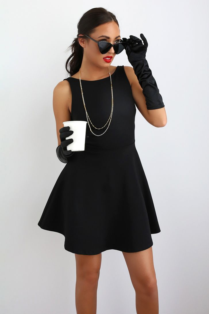 Three Halloween Costumes You Can Make with a Black Dress - halloween costume ideas in black
