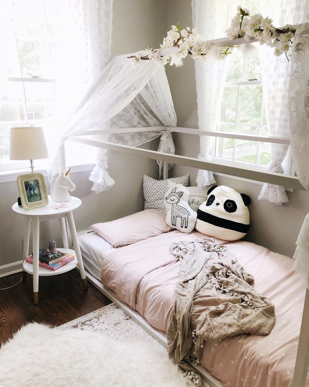 toddler girl's room, toddler girl room inspiration, pink and grey ...