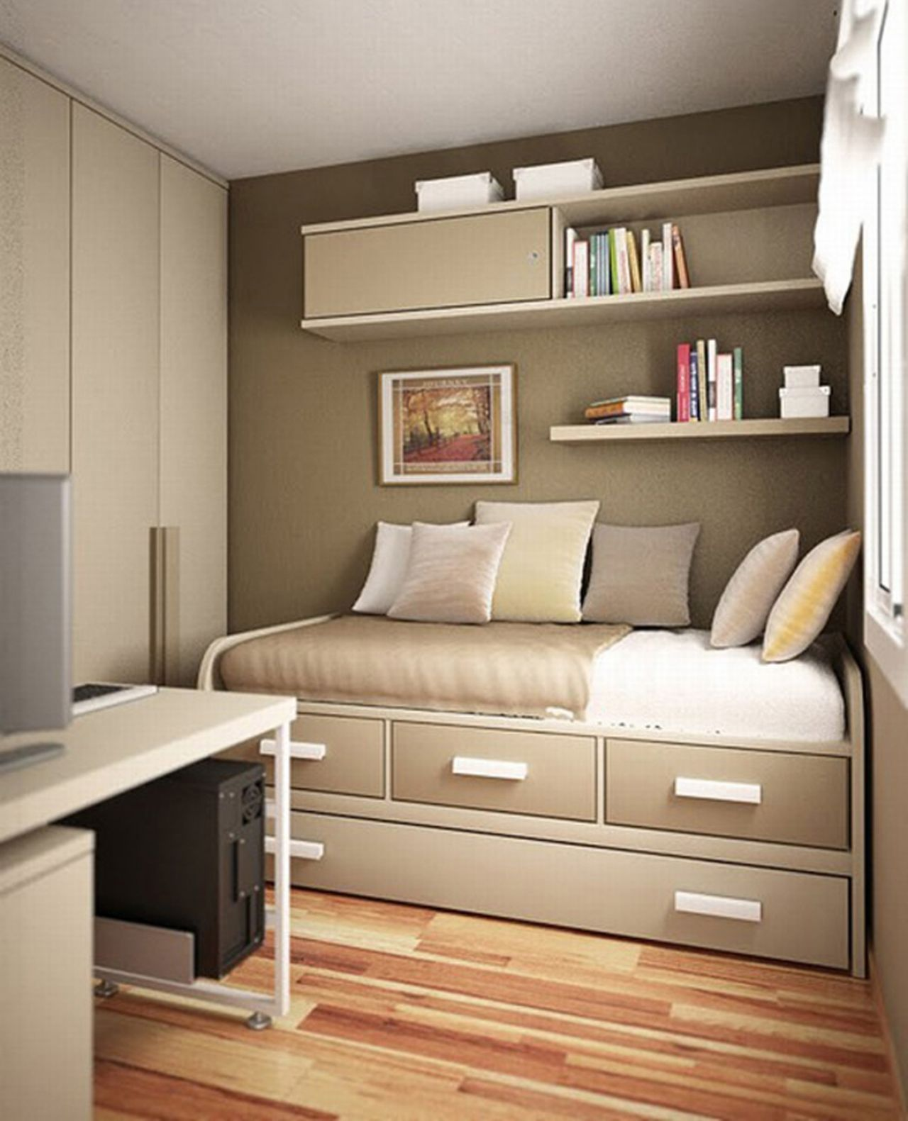 Top Superb Wardrobes For Small Rooms Single Bed Designs Space ..