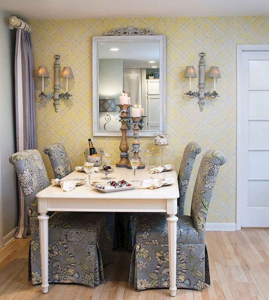 Trendy Color Duo: 10 Dining Rooms That Serve up Gray and Yellow
