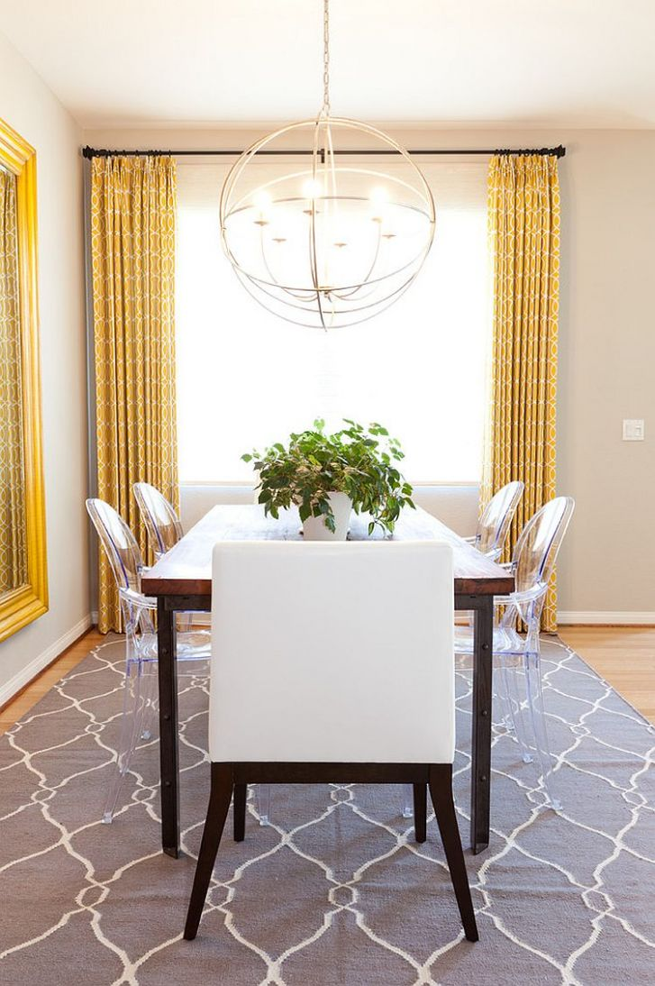 Trendy Color Duo: 12 Dining Rooms That Serve up Gray and Yellow