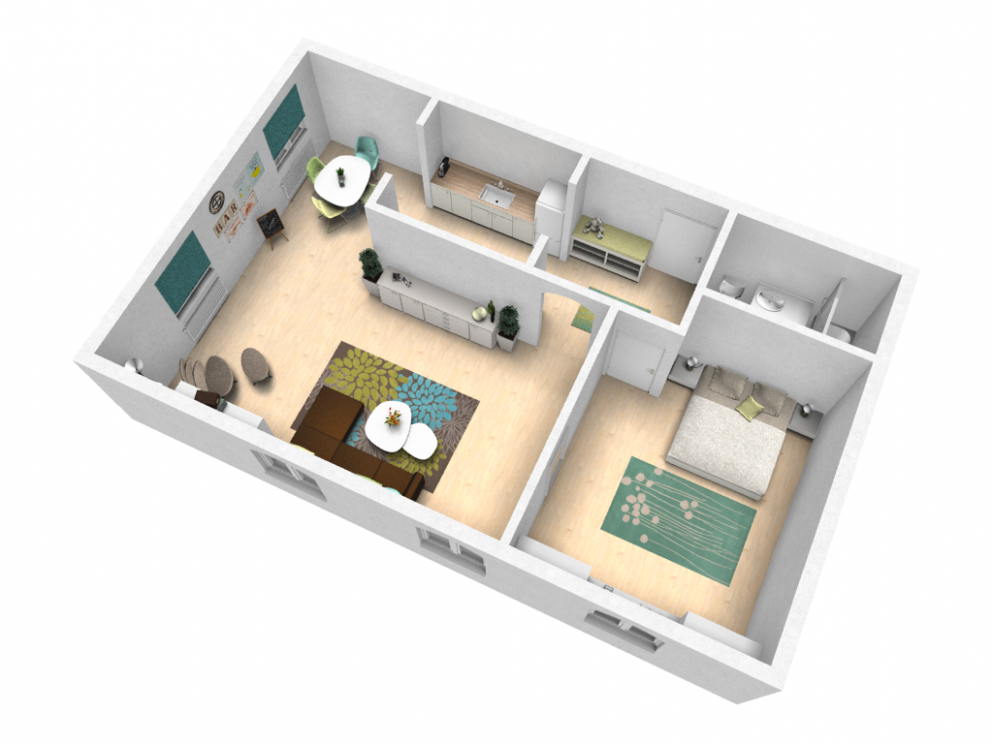 Try out your ideas in our sample apartment - pCon-Blog