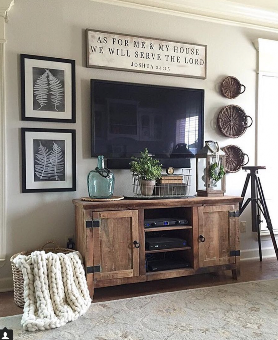 Using Baskets as Wall Decor - Beneath My Heart