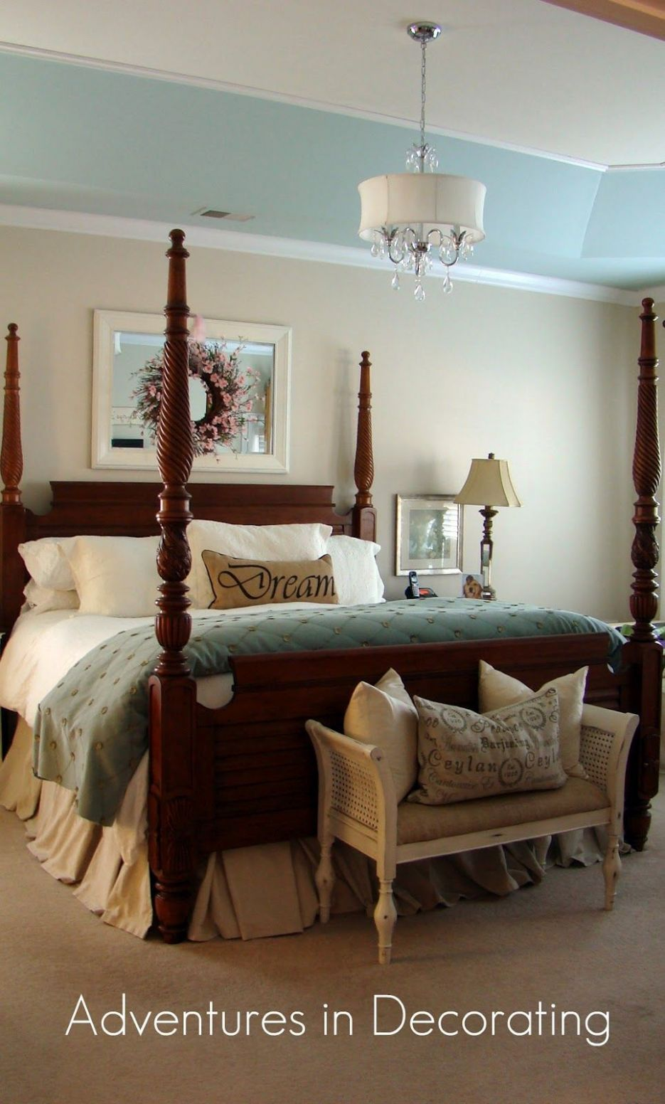 very pretty | Traditional bedroom, Traditional bedroom decor ...