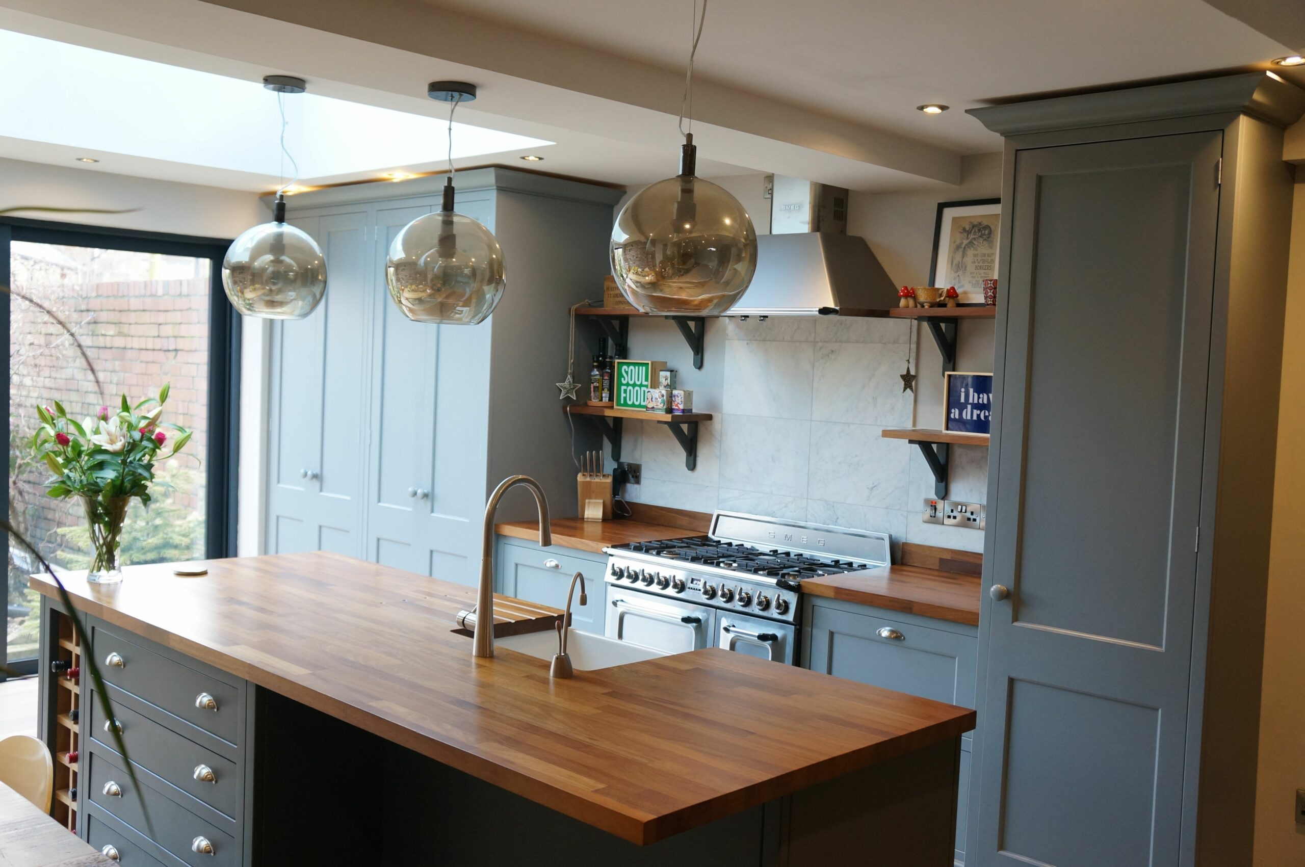 Victorian Terrace Kitchen Extension Lancaster - Handcrafted Kitchens