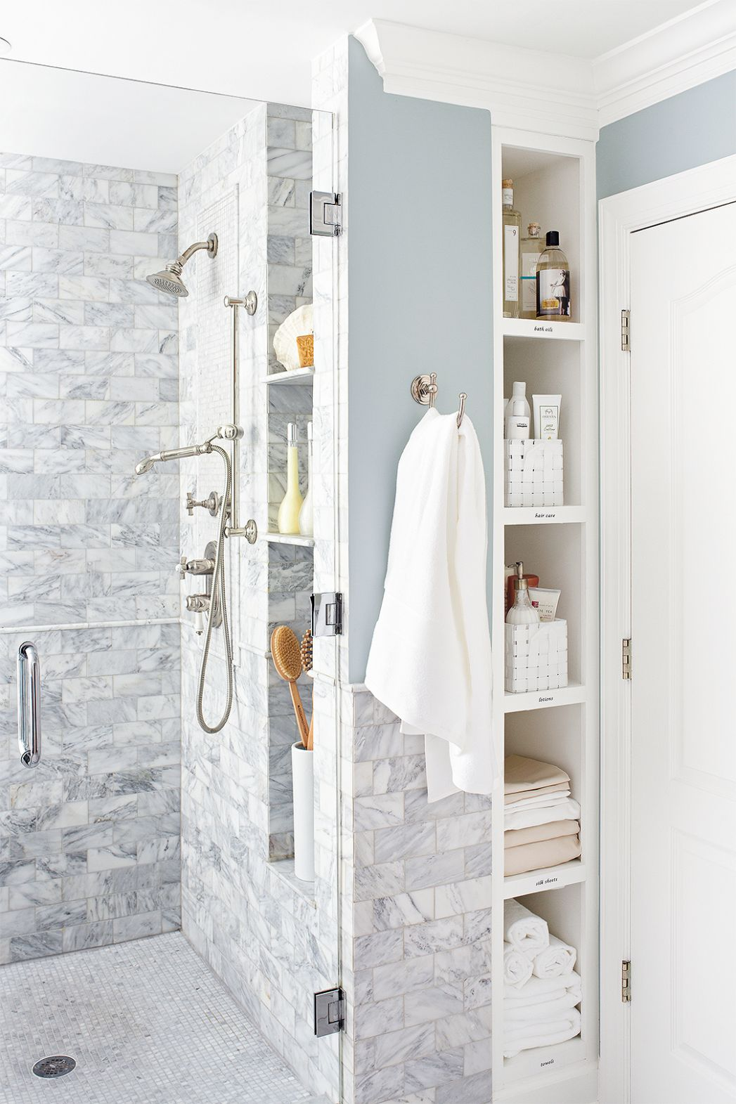 Walk-In Showers for Small Bathrooms | Better Homes & Gardens - bathroom ideas with just showers